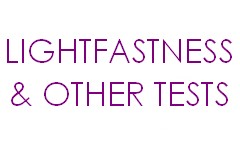 Services & lightfastness tests