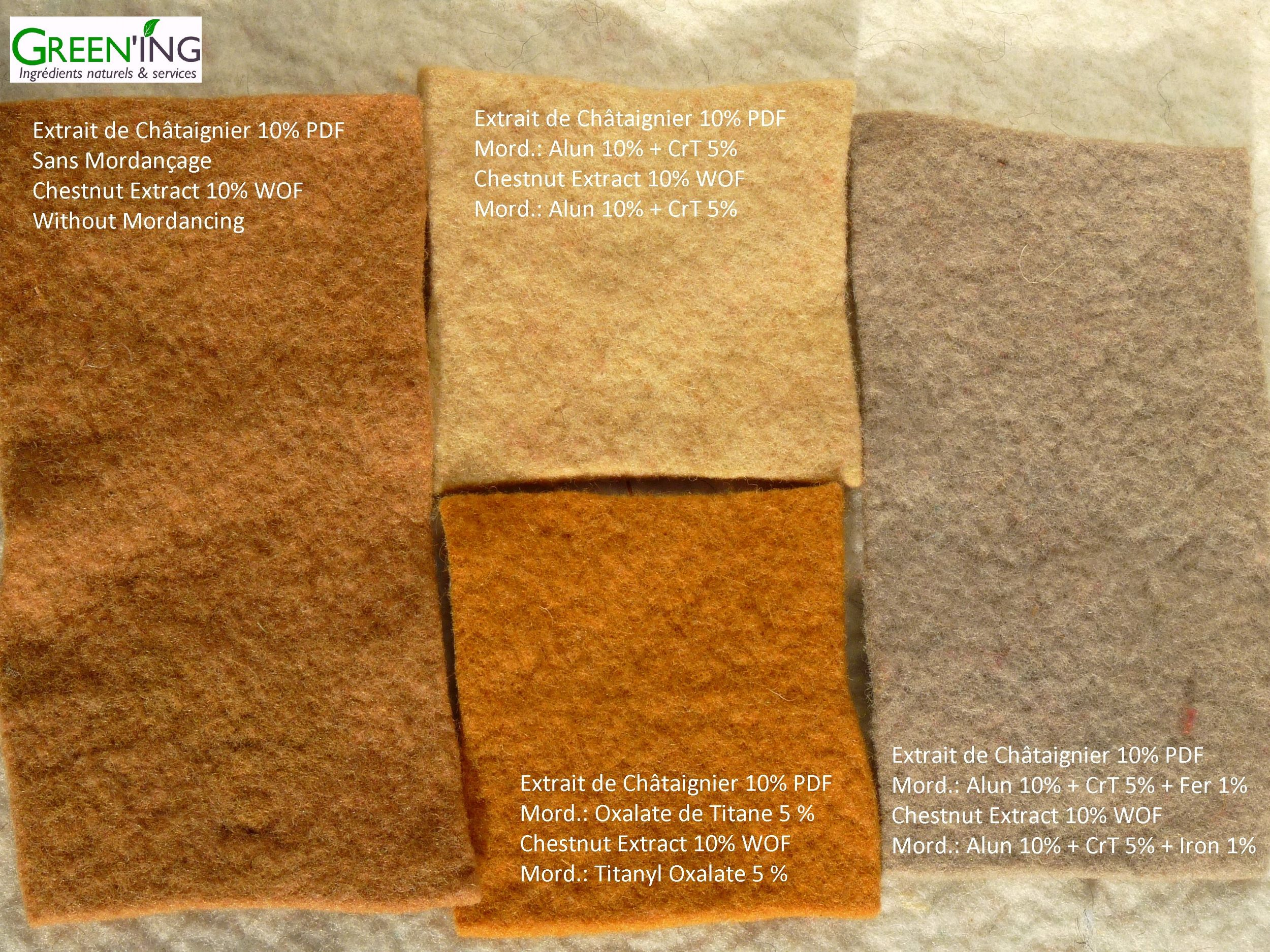Teinture naturelle de Feutre de laine @GREEN'ING