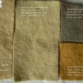 Natural dye of wool felt with Myrobalan extract and severals mordents