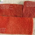 Natural dye of wool felt with Madder extract and severals mordents