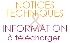 Notices et informations