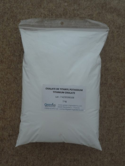 Oxalate de titanyl-potassium / Titanyl-potassium oxalate - mordant - ©GREEN'ING