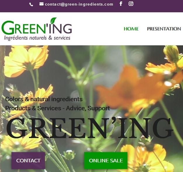 GREEN'ING - New website ©GREEN'ING